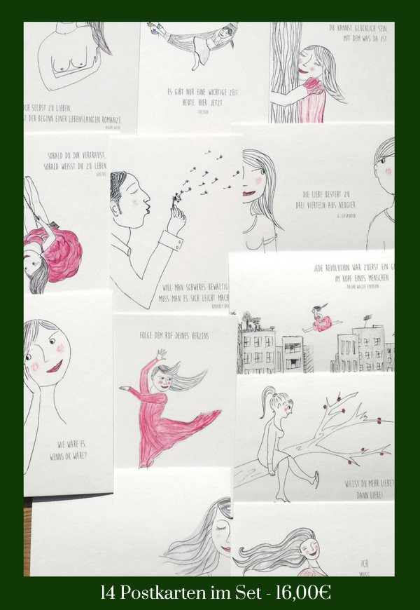 14 Postkarten im Set - 16,00€